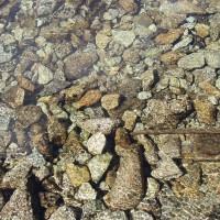 Dno jezera v Pyrenejích