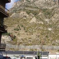 Výhled z hotelu v Sant Juliá de Lória v Andoře