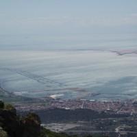 Delta řeky Ebro z výšky - naplavená oblast