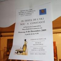 Plakátek informující o slavnosti olivového oleje
