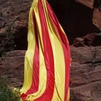 Obří Katalánská vlajka