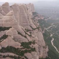 Skalní útvary na hoře Montserrat
