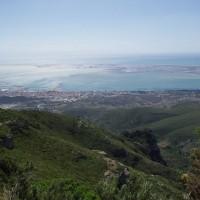 Výhled na deltu Ebra z pohoří Montsiá