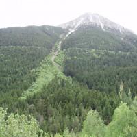 Národní park Aigüestortes - tudy asi protekla lavina