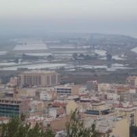 Výhled na Sant Carles de la Rápita a část delty Ebra