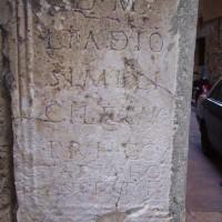 Římská tabulka ve zdi domu ve staré Tarragoně