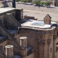 Tortosa - výhled z hradu Zuda na katedrálu Santa Maria - odfláknutá věžíčka :-)