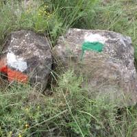 Červená dálková a nějaké místní zelené značení